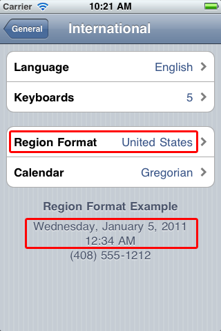 International date format
