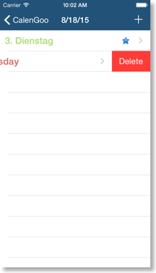 Deleting events | 1 5 71